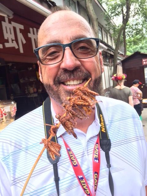 Eating Grasshoppers - Huanglongxi Village - China - Travel Blogger - Food Blogger - Gate 1 Travel